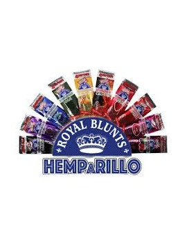 Royal Blunts au chanvre HEMPARILLO Sans tabac (15 sachets de 4 feuilles)