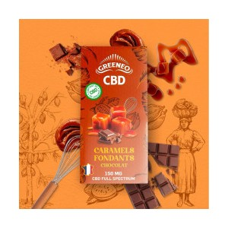Caramel Fondant Chocolat - 150mg - Greeneo